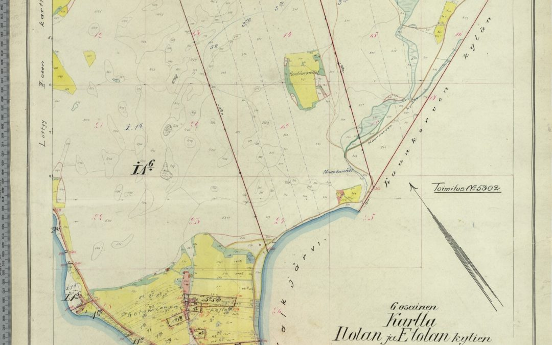 Kartta Etolan ja Ilolan kylien tilukset 1917-1918