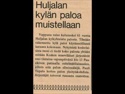 Pauli Tupala esitelmöi Huljalan palosta osa 1