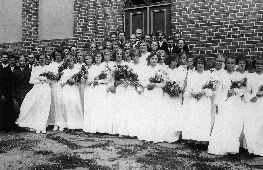 Kosken HL rippikoululaiset v. 1951