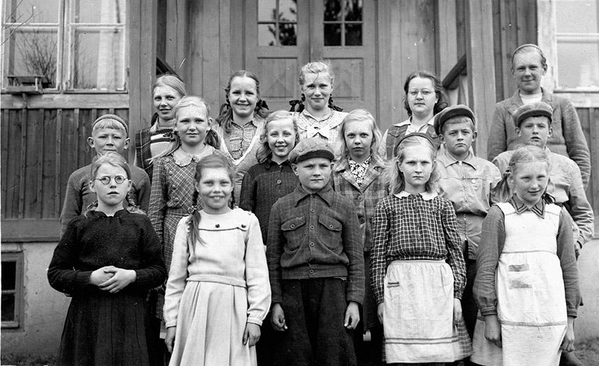 Palomaan supistettu kansakoulu 1949-1950