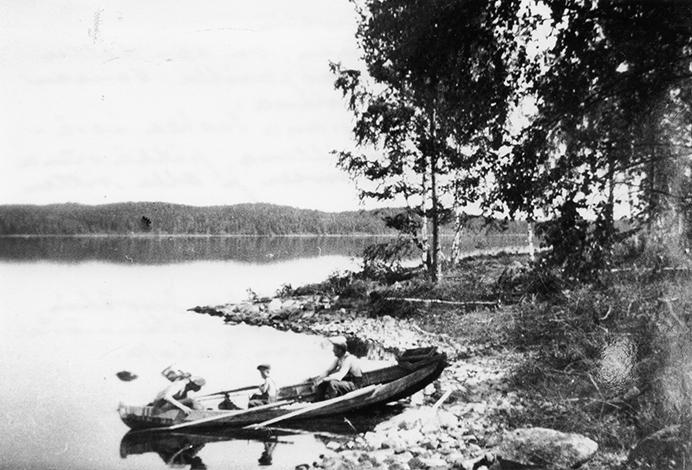 Kalastajat Pääjärvellä