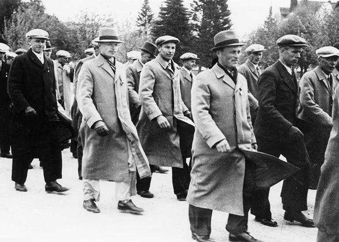 Aseveliliiton juhlat Lahdessa 1940