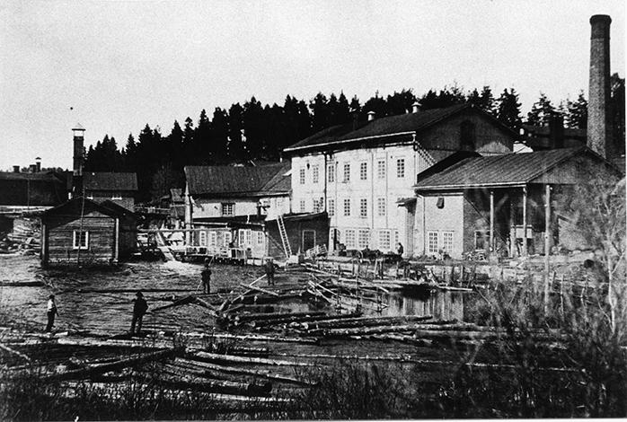 Tukkien uittajia vuonna 1905
