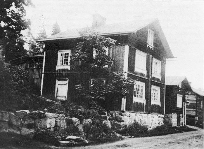 Verkatehtaan työväen asuntoja noin v. 1910