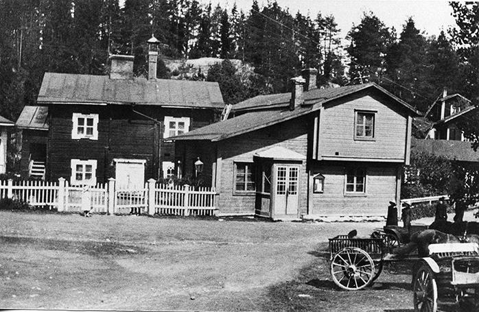 Kirkonkylän keskustaa vuodelta 1906