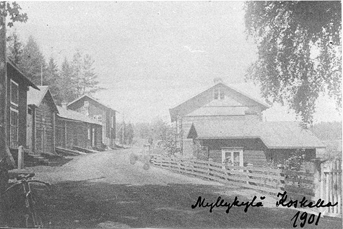 Myllykylän raittia v. 1901