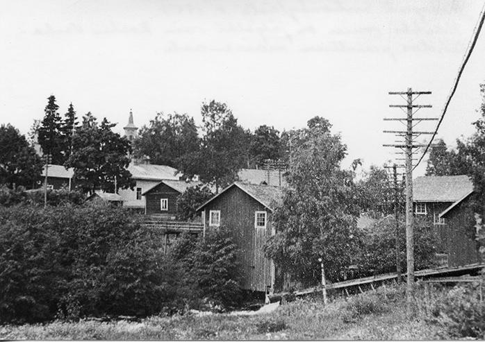 Kirkonkylää vuonna 1951