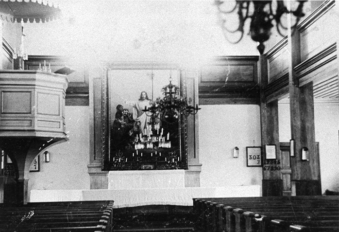 Kirkon sisäkuva