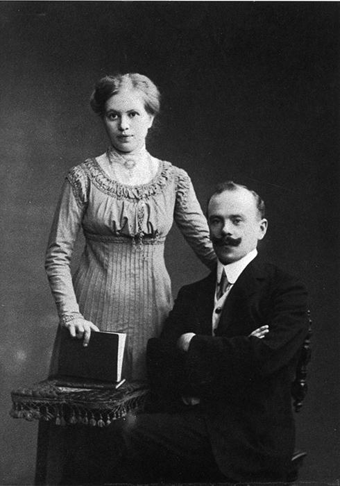 Väinö Korhonen ja hänen rouvansa