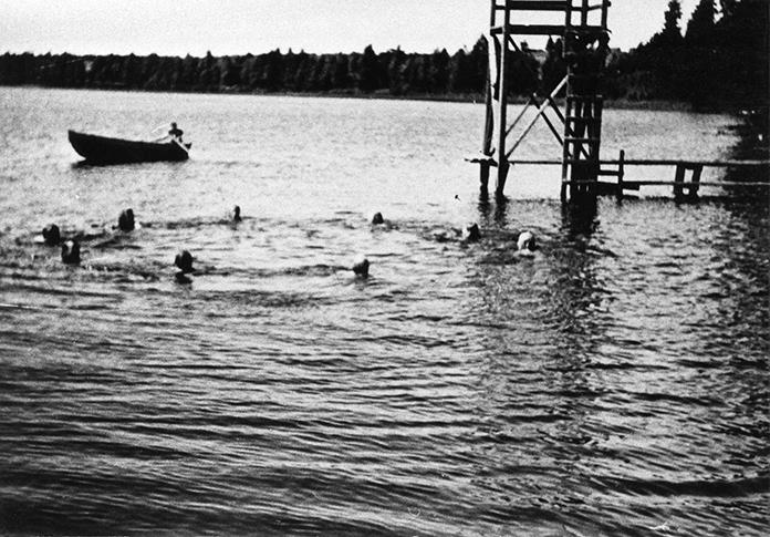 Uimalaitos Nuuskamäen rannalla