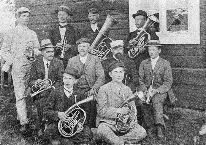 Kosken torvisoittokunta v. 1905