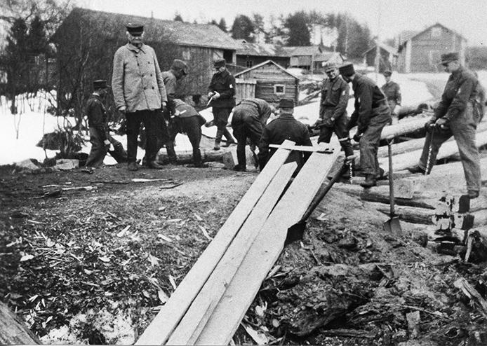 Kosken Hl suojeluskunnan harjoitustyö 1937