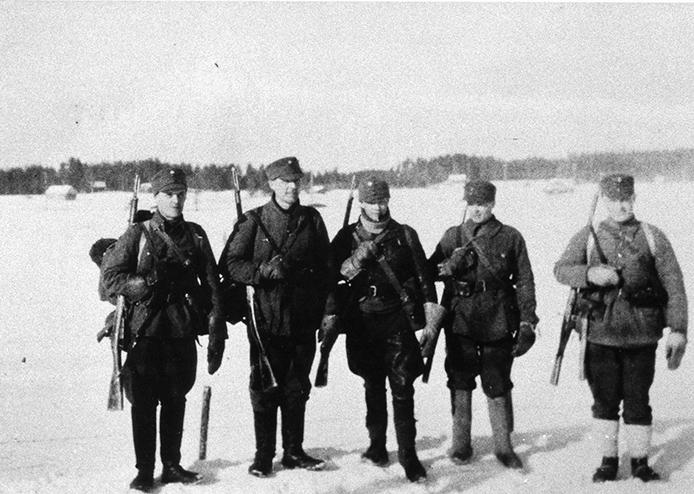 Pioneerikomppanian miehiä talvisodassa