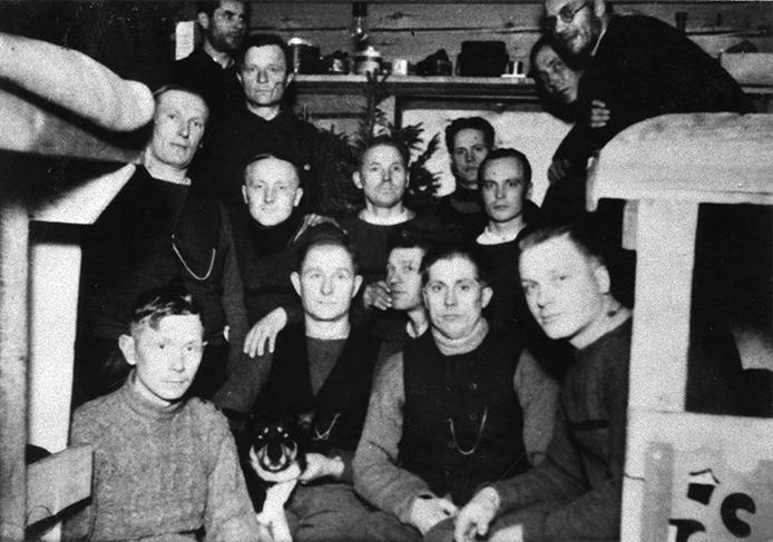 Pion. Kol. 21. jatkosodan ensimmäinen joulu Syvärillä