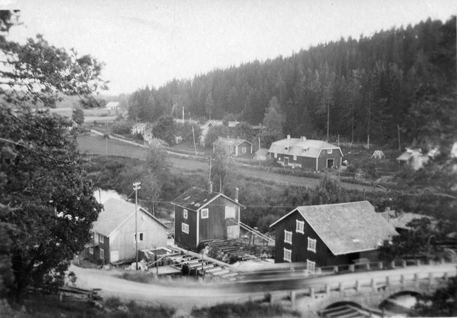 Näkymä Myllykylästä n. 1940-luvulta