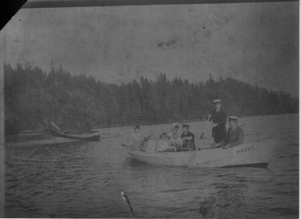 Veneretki Pääjärvellä 1905-1910