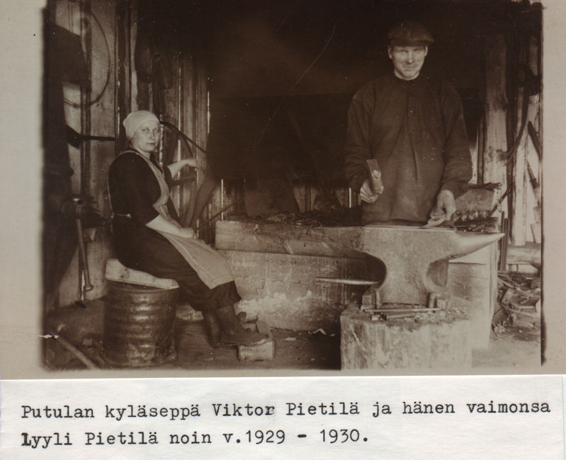 Putulan kyläseppä Viktor Pietilä 1929
