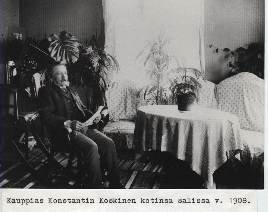 Kauppias Konstantin Koskinen 1908