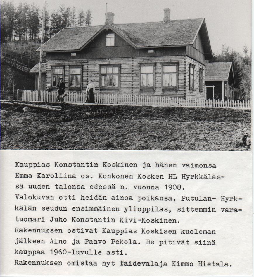 Kauppias Konstantin Koskisen kotitalo 1908