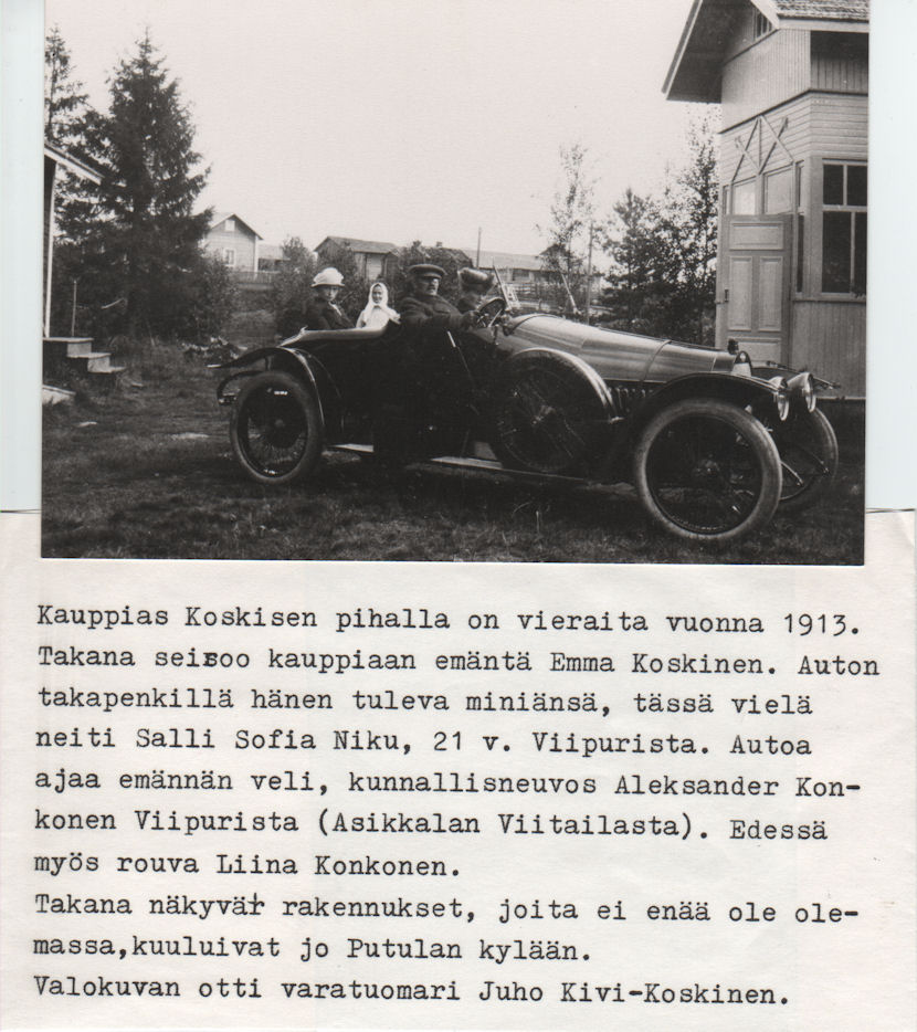 Kauppias Koskisen vieraita 1913