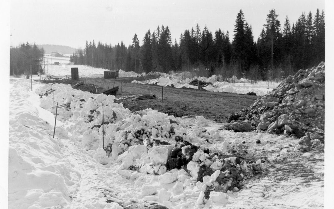 Valtatie 12 tietyömaa Huljala – Hankala 1963