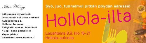 HOLLOLA-ILTA ja KYLÄKEHUKISA