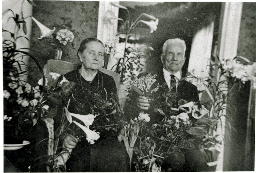 Ida ja Henrik Tuloiselan kultahäät v. 1936