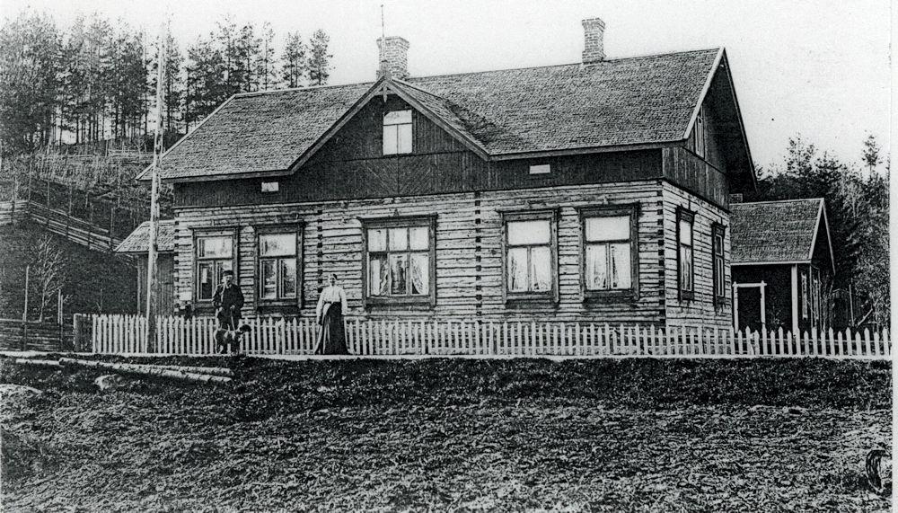 Konstantin Koskisen Hyrkkälän talo n. v. 1910