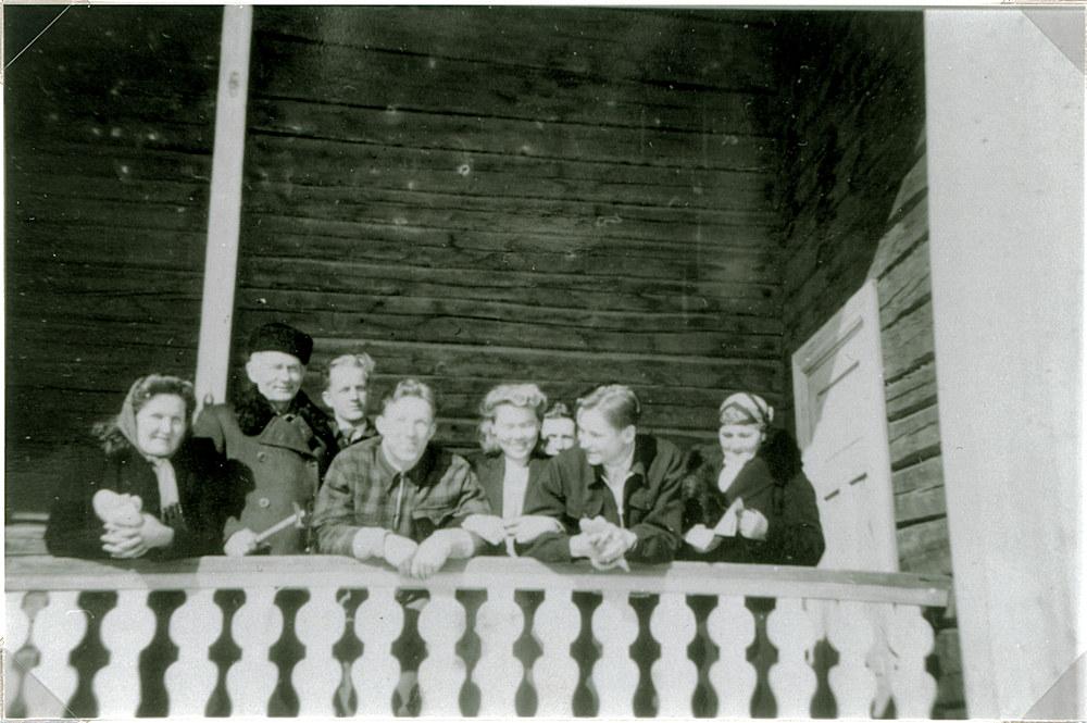 Näytelmäharjoitukset Putulan Seurantalolla v. 1950