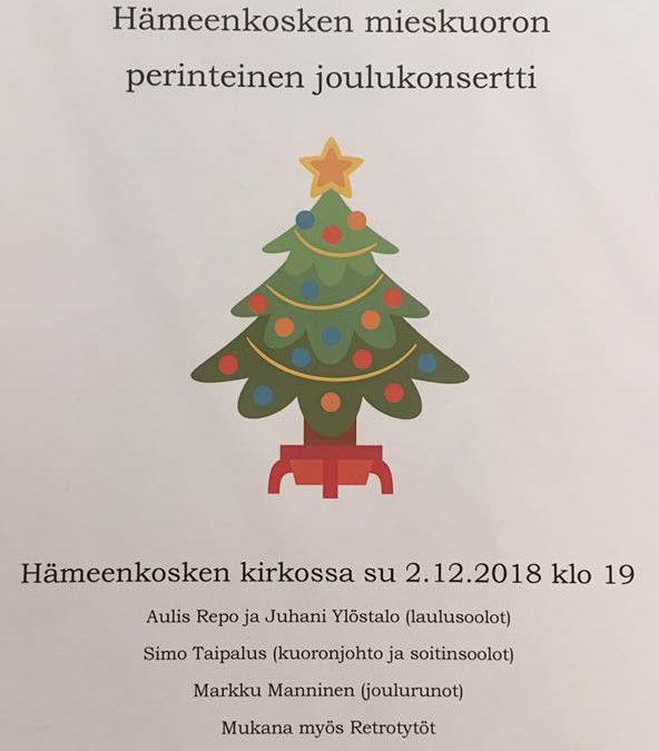 Oi, terve joulukuusi! Joulukonsertti