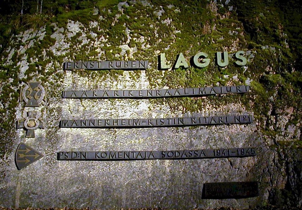 Kenraalimajuri Ernst Ruben Laguksen muistomerkki