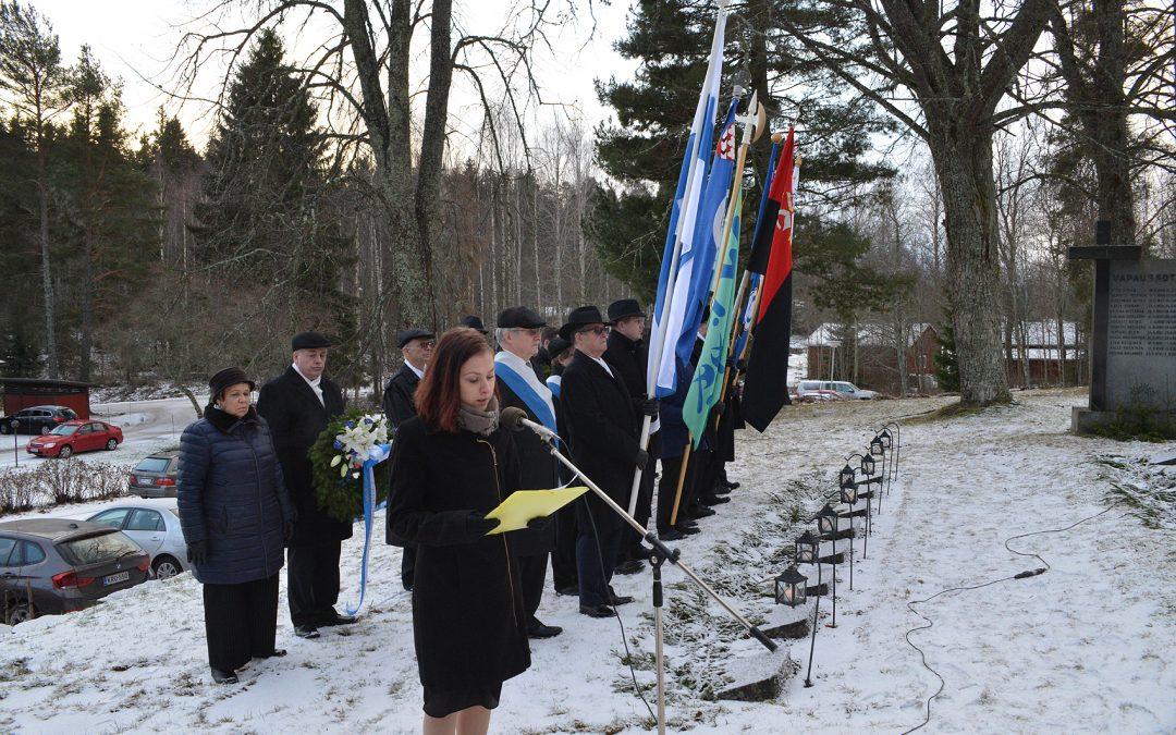 Hollolan kunnan itsenäisyyspäivän juhla Hämeenkoskella 2019