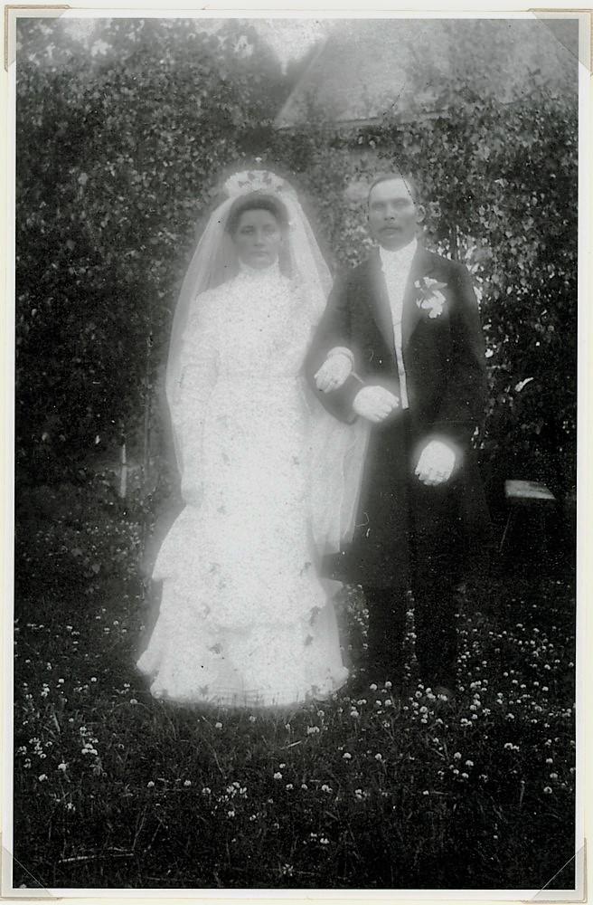 Hääkuva Tupasela 8.7.1910