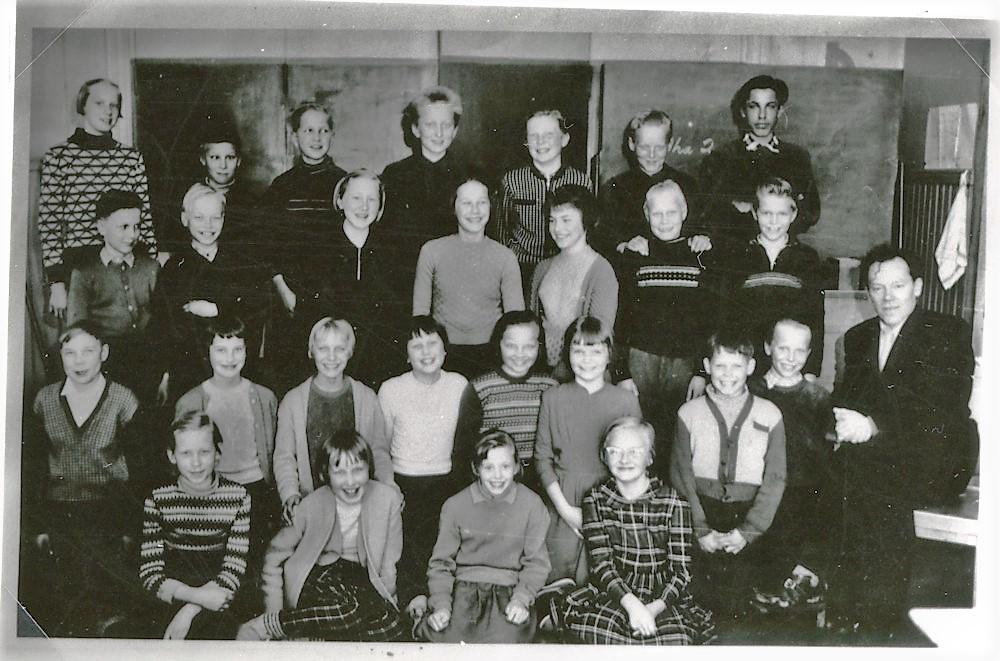 Koulukuva, Putulan kansakoulu, yläkoulu, lukuvuosi 1959-1960