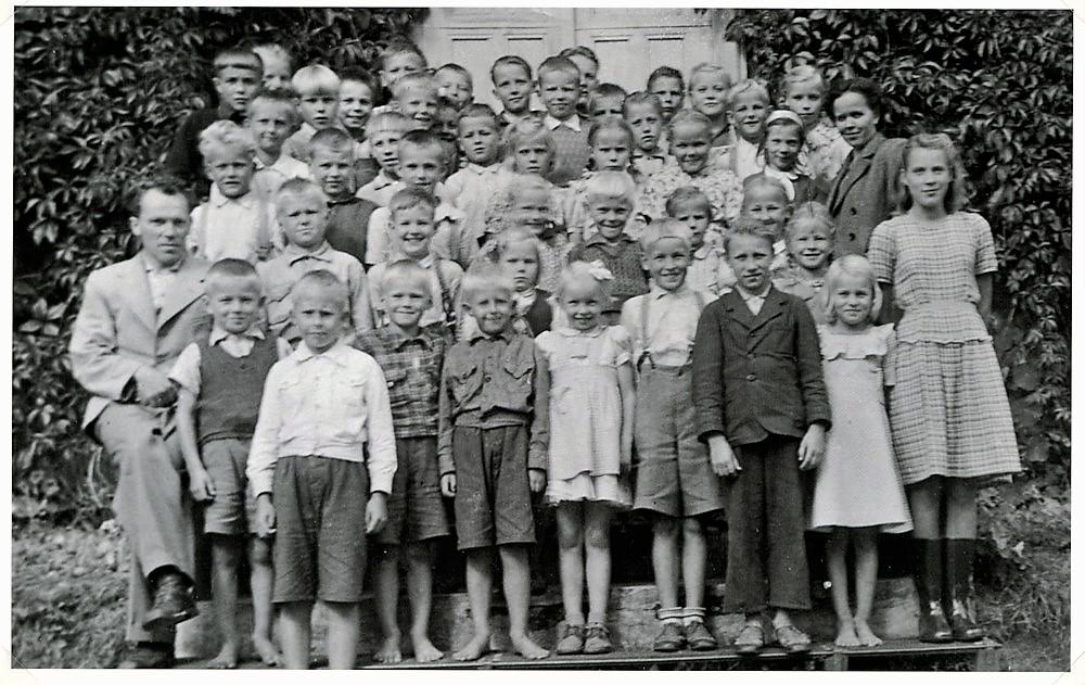 Koulukuva, Putulan kansakoulu, v.1949