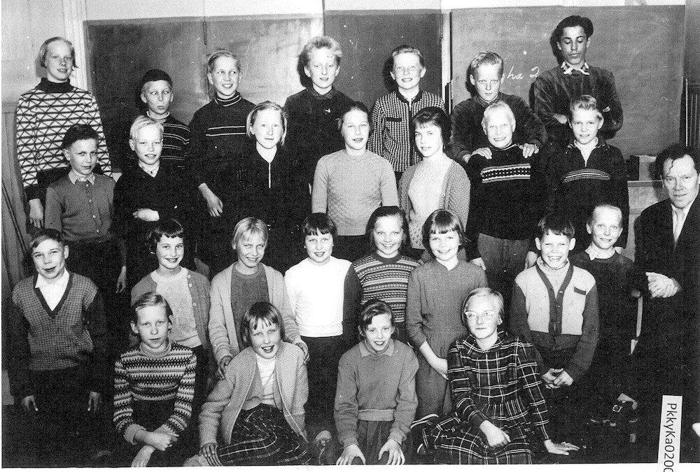 Putulan kansakoulu, yläkoulu, 4.-7.lk, 1959-60