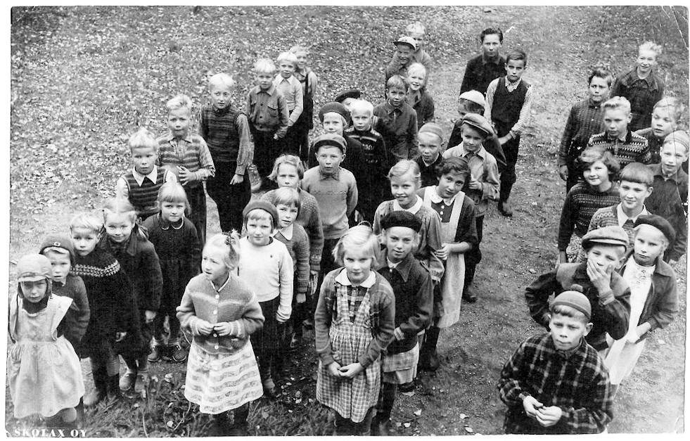 Putulan kansakoulu, Lukuvuosi 1955-1956, 1.– 7. luokat, koulukuva
