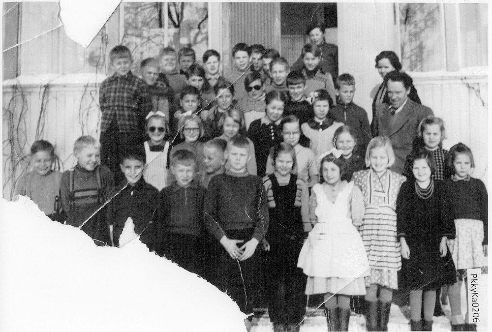 Putulan kansakoulu, 1940-50 luvun vaihde, koulukuva