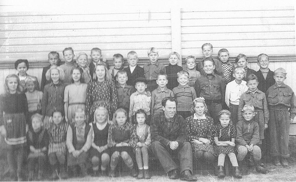 Putulan kansakoulu, 1940-luvun loppupuoli, koulukuva