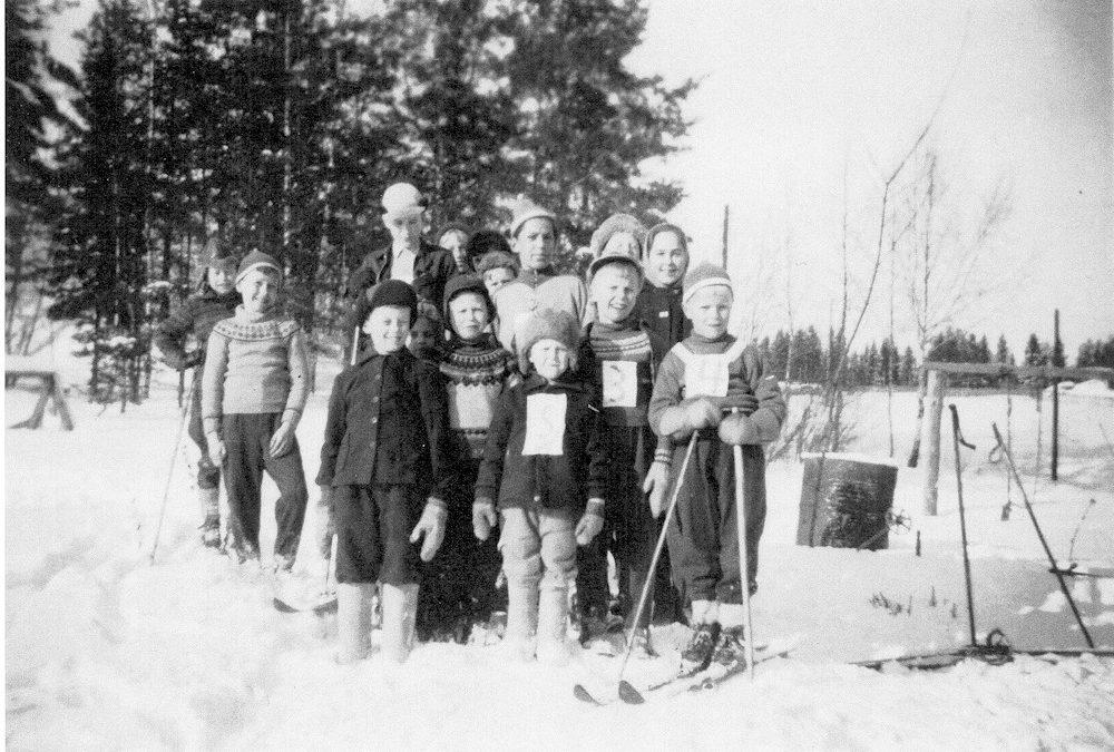 Putulan kansakoulu, hiihtokilpailut