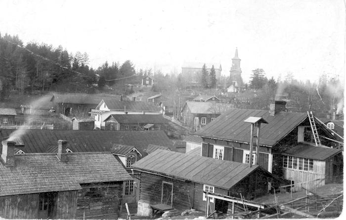 Kosken Hl taajaman rakennuksia 1900-luvun alussa