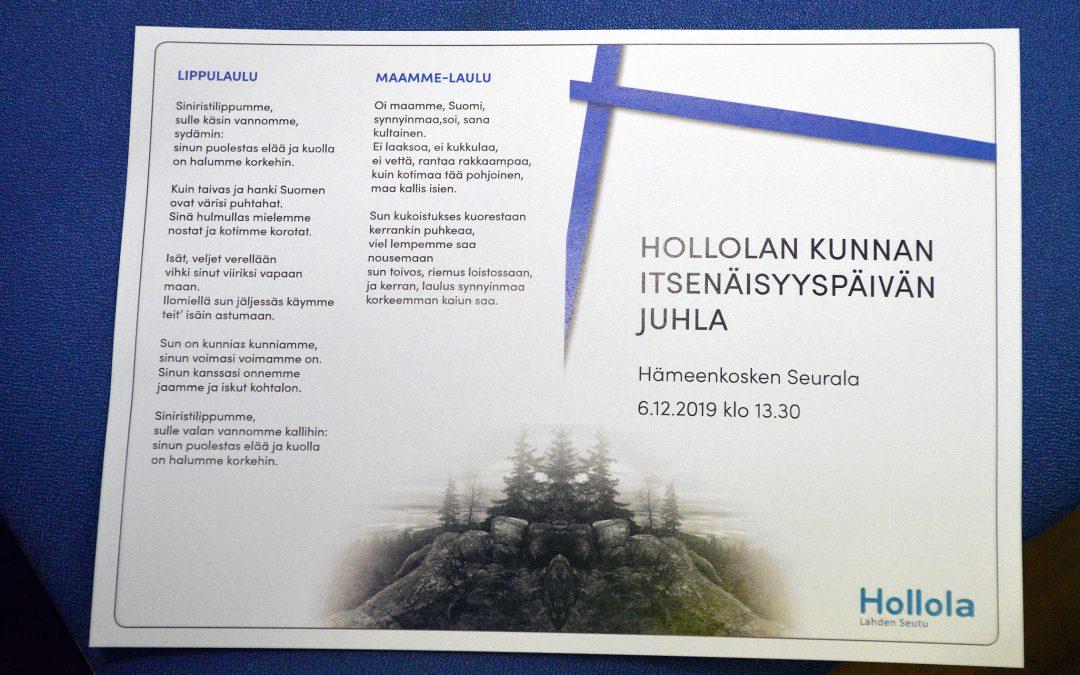 Hollolan kunnan itsenäisyyspäivän juhlan 2019 kuvasatoa