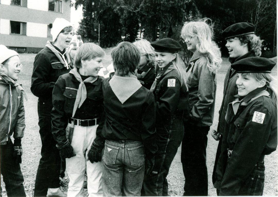 Partiolippukunta Koskenlaskijat ja johtaja Irma Ärling