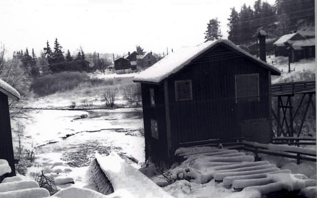 Talvinen maisema Myllykosken sillalta