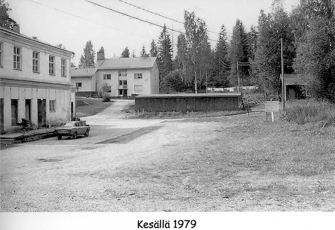 Kosken meijerin piha vuonna 1979