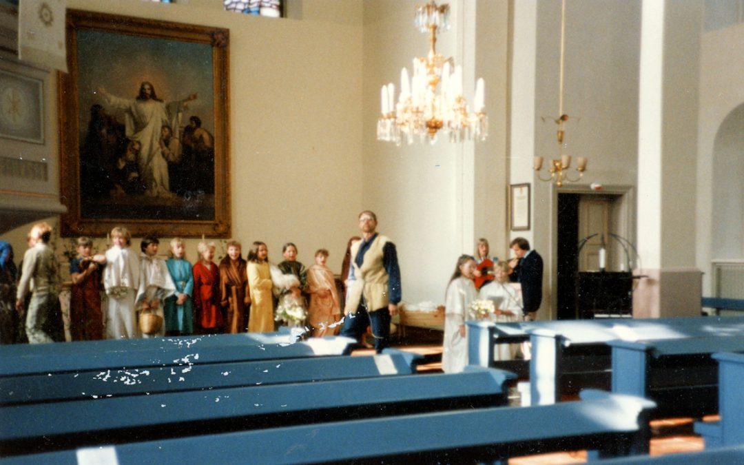 Hyvä Ystävä -musikaali Kosken Hl kirkossa v. 1985