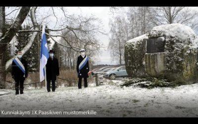 Kunniakäynti presidentti J.K.Paasikiven muistomerkillä