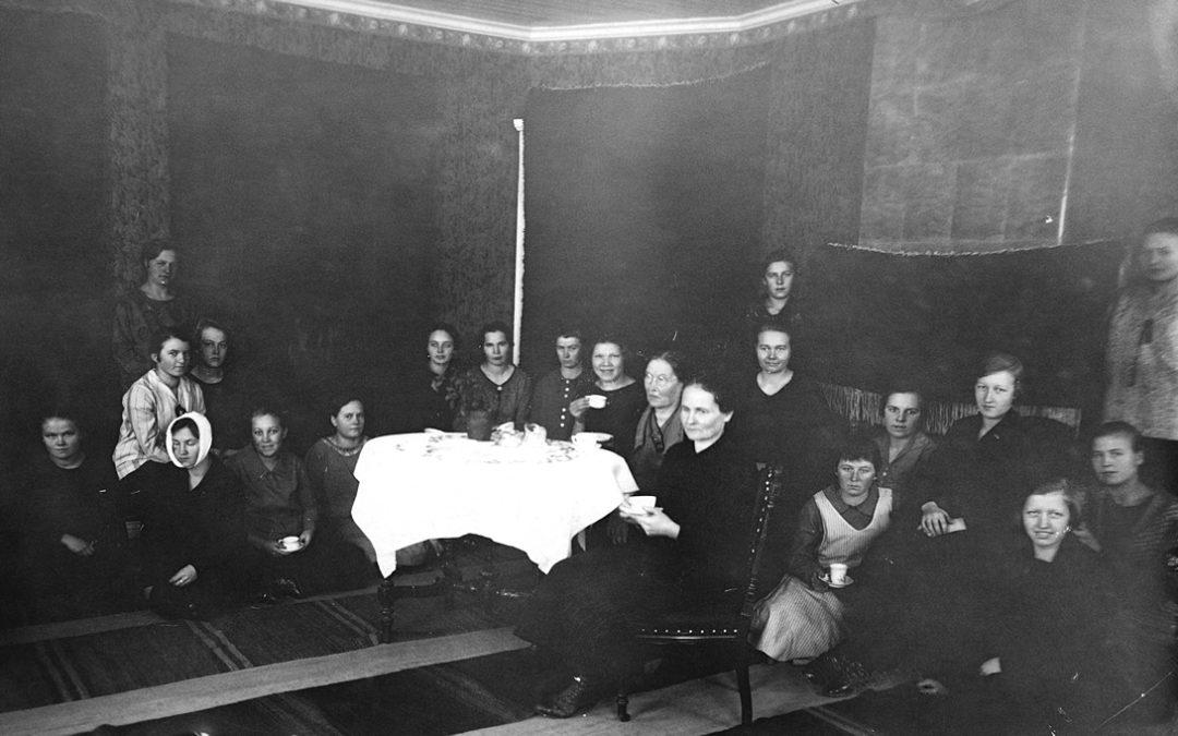 Kutomakoulu Heikkilässä v. 1927