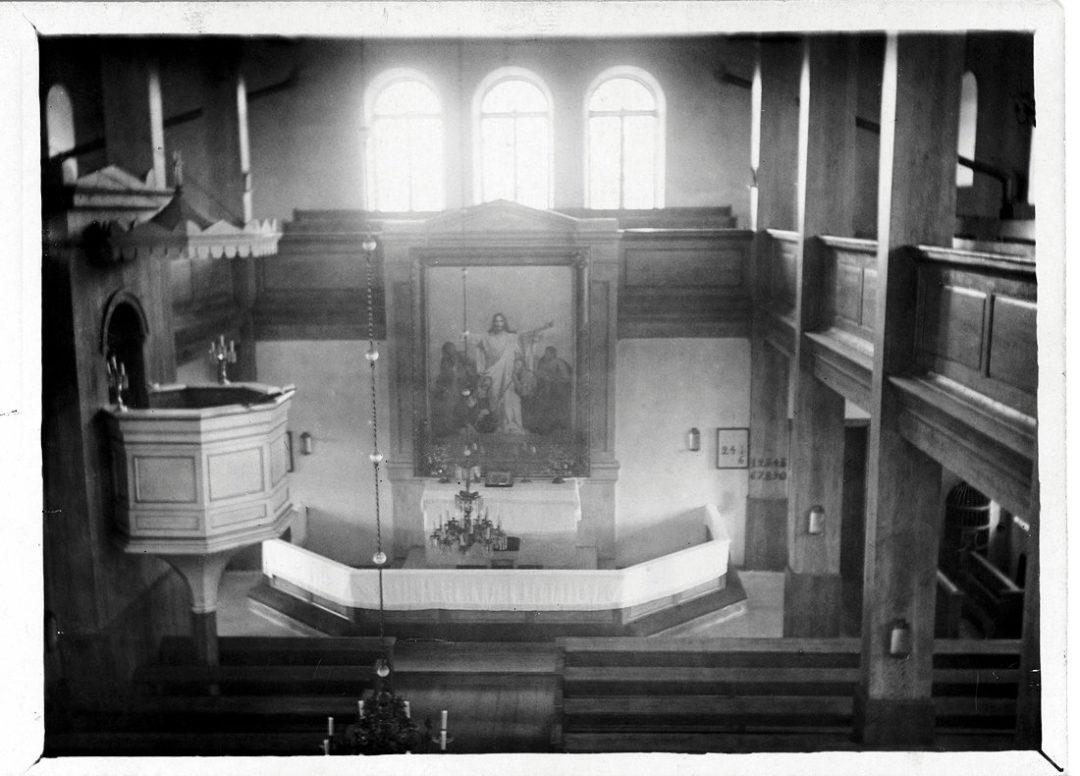 Kosken kirkko sisäkuvassa
