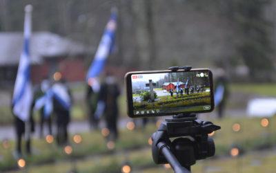 Itsenäisyyspäivän kunniakäynti Hämeenkosken sankarihaudoille v. 2020